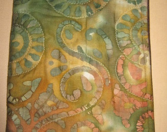 Nook Tablet Kindle Fire zippered Cover in Green Rust tye dye