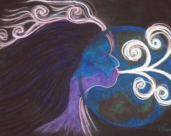 Gaia Pastel Painting