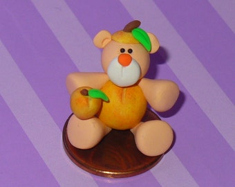 Miniature Peach Teddy Bear