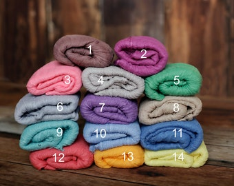 RTS, PICK 3, Newborn Cheesecloth, Photo Prop, Newborn Layer, Cheesecloth Wrap,  VIBRANT 26 Colors, Newborn Wrap, Basket Stuffer