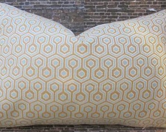 SALE Designer Pillow Cover 12 x 16 , 12 x 18, 12 x 20, 10 x 20 - Hicks Hexagon