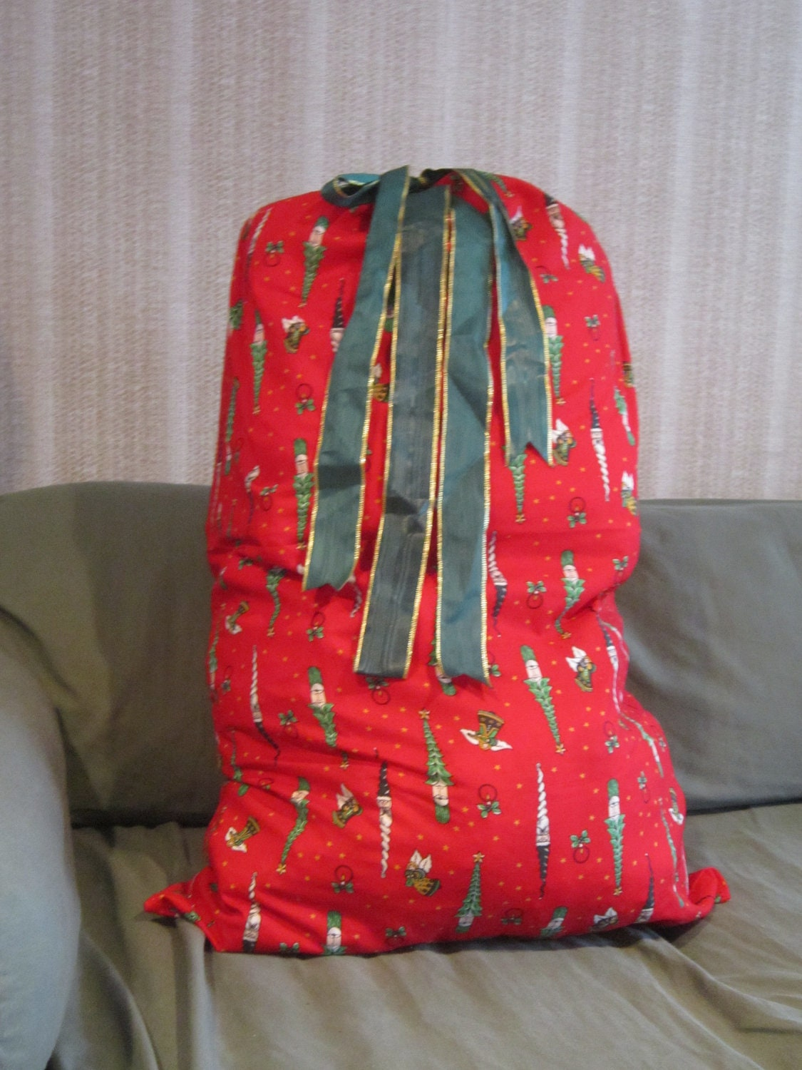 Large Christmas Fabric Gift Bag