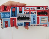 Discontinued fabric-London Blocks Pencil Case/cosmetic pouch-Discontinued fabric