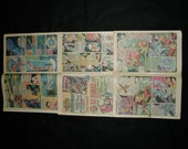 Superhero 16 Comic Book Pages, Various, Upcycle, Scrapbooking or Art Project Supplies