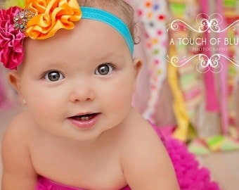 OVER THE RAINBOW Headband - Preemie to Adult Sizes Available