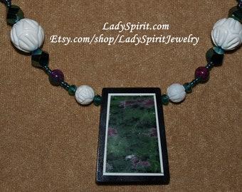 Ruby Zoizite Intarsia Necklace Set