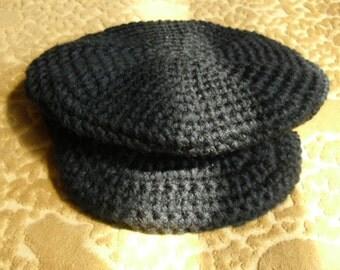 Childrens Newsboy Cap in Black - Butcher Boy Cap - Childs Cap