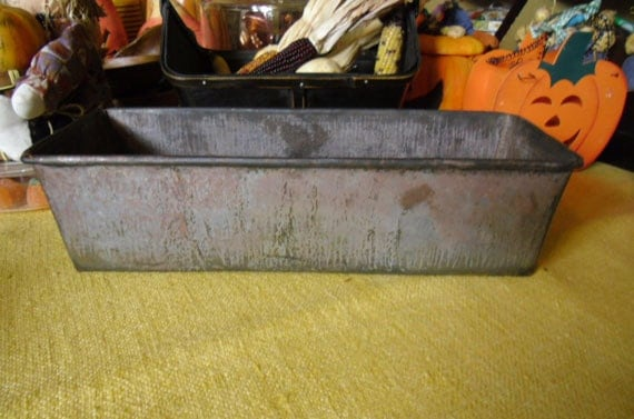 Vintage Loaf Pan Metal Bread Pan Antique Handmade Baking