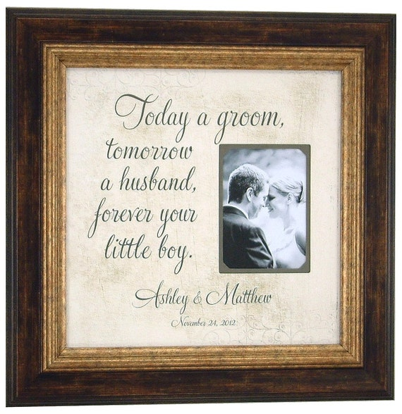Wedding Gift For Groom Dad : Wedding Gifts For Parents, Bride, Groom, MOM & DAD, Sign, Frame ...