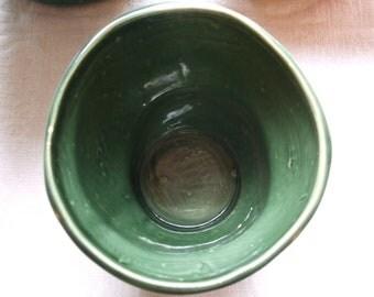 Green Planter Vintage Swirl