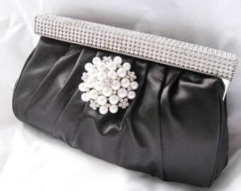 bridal, rhinestone, clutches, Weddings, pearls, bridesmaid, Wedding clutch, Bridesmaid purse, pearl clutch, wedding purse, Bags and purses