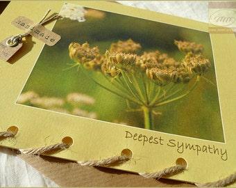 Deepest Sympathy - Autumn Plant - Card Handmade in Ireland