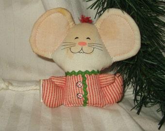 Vintage Hallmark Christmas Ornament Hallmark mouse cloth mouse 1982 Christmas mouse stuffed toy signed Hallmark mouse
