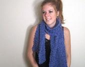 Knit Chunky Scarf Blue
