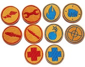 Iron on Team Fortress 2 RED or BLU embroidered player patch