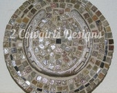 Horse shoe mosaic trivet
