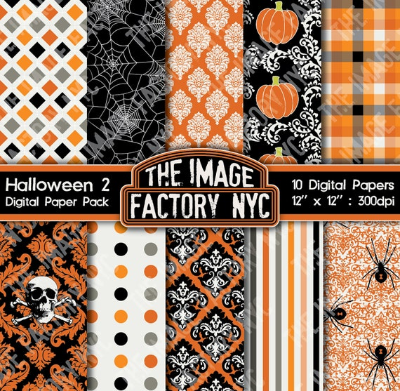 Halloween Digital Paper Pack Collection-Download and Print (TIFNYC-HWNPP-2)