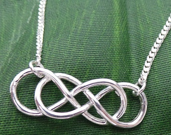 Revenge Double Infinity Necklace - Infinity Times Infinity Necklace - Infinity Jewelry - Long Distance Gift - Forever Friendship Necklace
