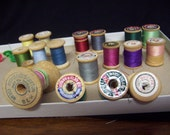 18 VINTAGE      Wooden Spools Coats and Clark