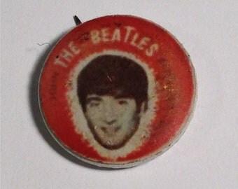 John Lennon Beatles Pinback Button 1960s Vintage