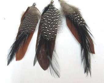 5-8cm Natural Feather Nature Tone Lot of 25pieces - 4731  - Wholesale Feathers Bulk Accessory