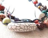 SALE: Fremantle Collection necklace - multi strand with a rainbow of colours