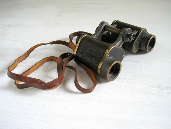 Antique Brass Binoculars - Carl Zeiss Jena Telact