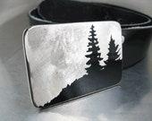 Cascade Hilltop Belt Buckle - Stainless Steel - Handmade
