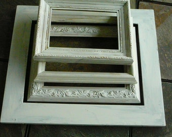 FRAMES / Set of 4 / Shabby Chic /  Wedding Decor / Home Decor / French Cottage