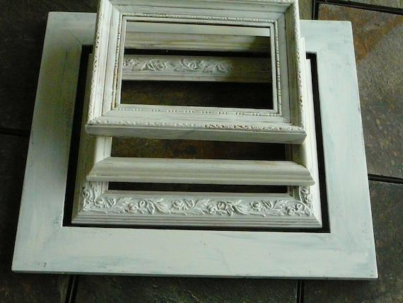 FRAMES / Set of 4 / Shabby Chic /  Wedding Decor / Home Decor / French Cottage