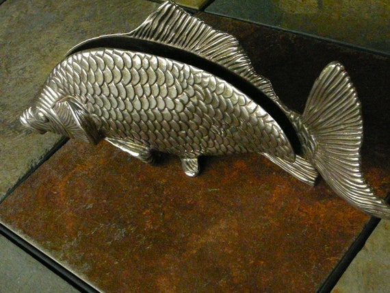 Sale graduation metal koi decor napkin by happiness2day on for Koi fish metal art