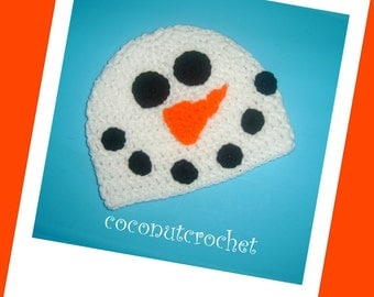 Frozen Snowman Hat Circumference 17.5 inches