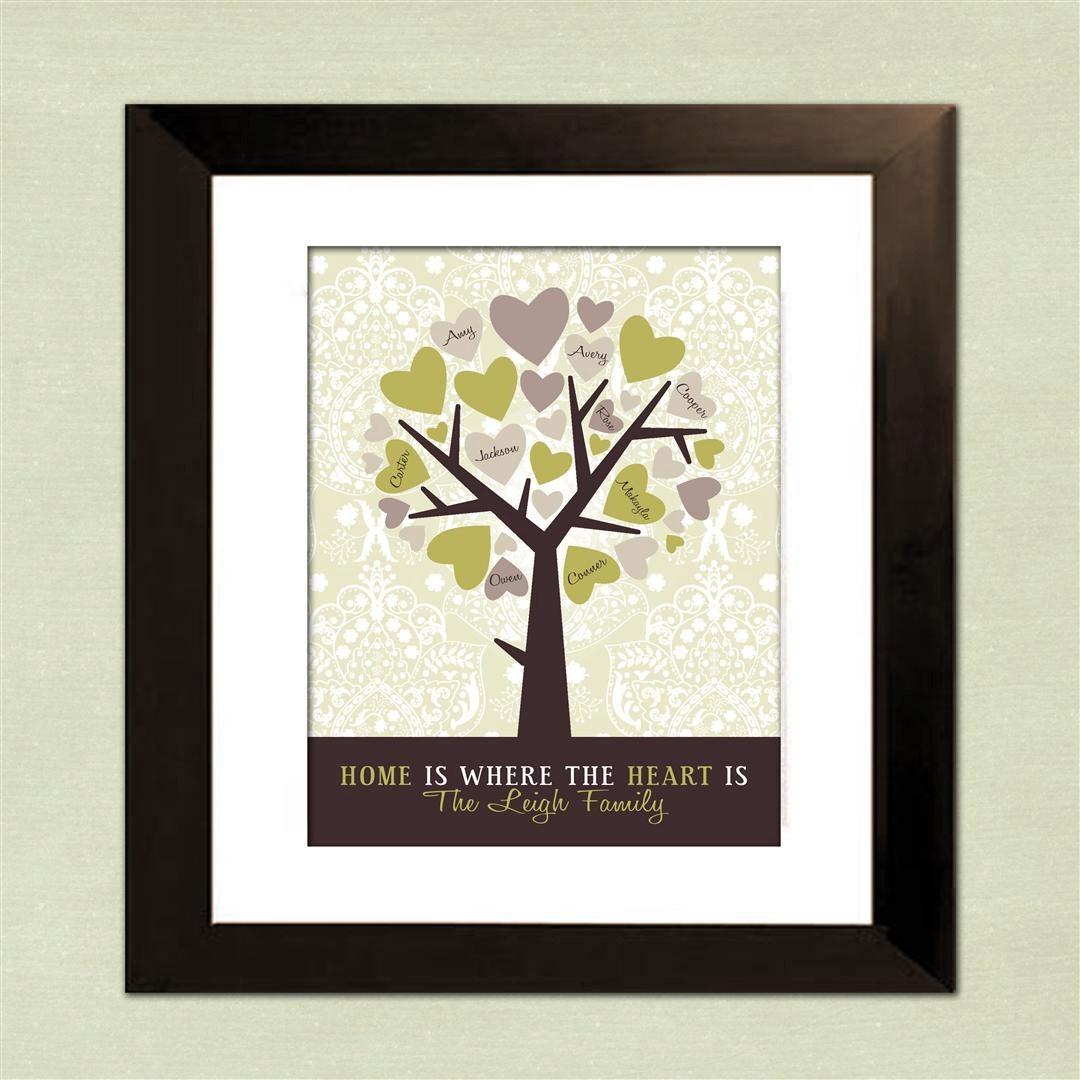 Personalized gift for grandma custom family tree wife gift for Family tree gifts personalized