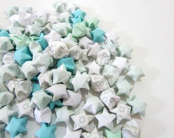 100 Mint Turquoise Jasmine Origami Stars