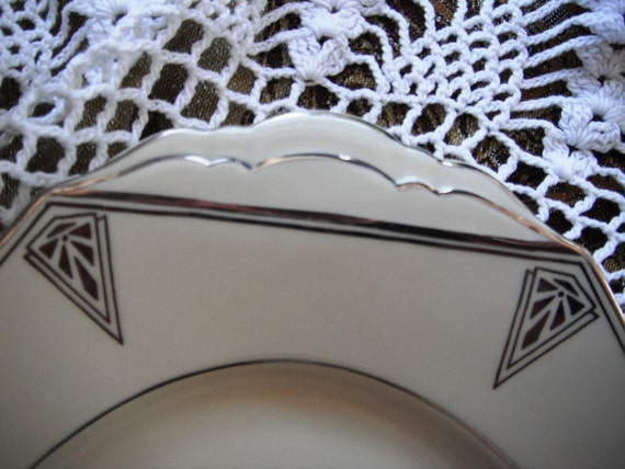 Deauville Community China Made in Bavaria-Exquisite Art Deco Platter 1929