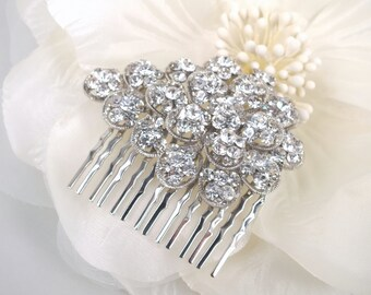 Corinthia - Vintage Style Rhinestone Bridal Comb
