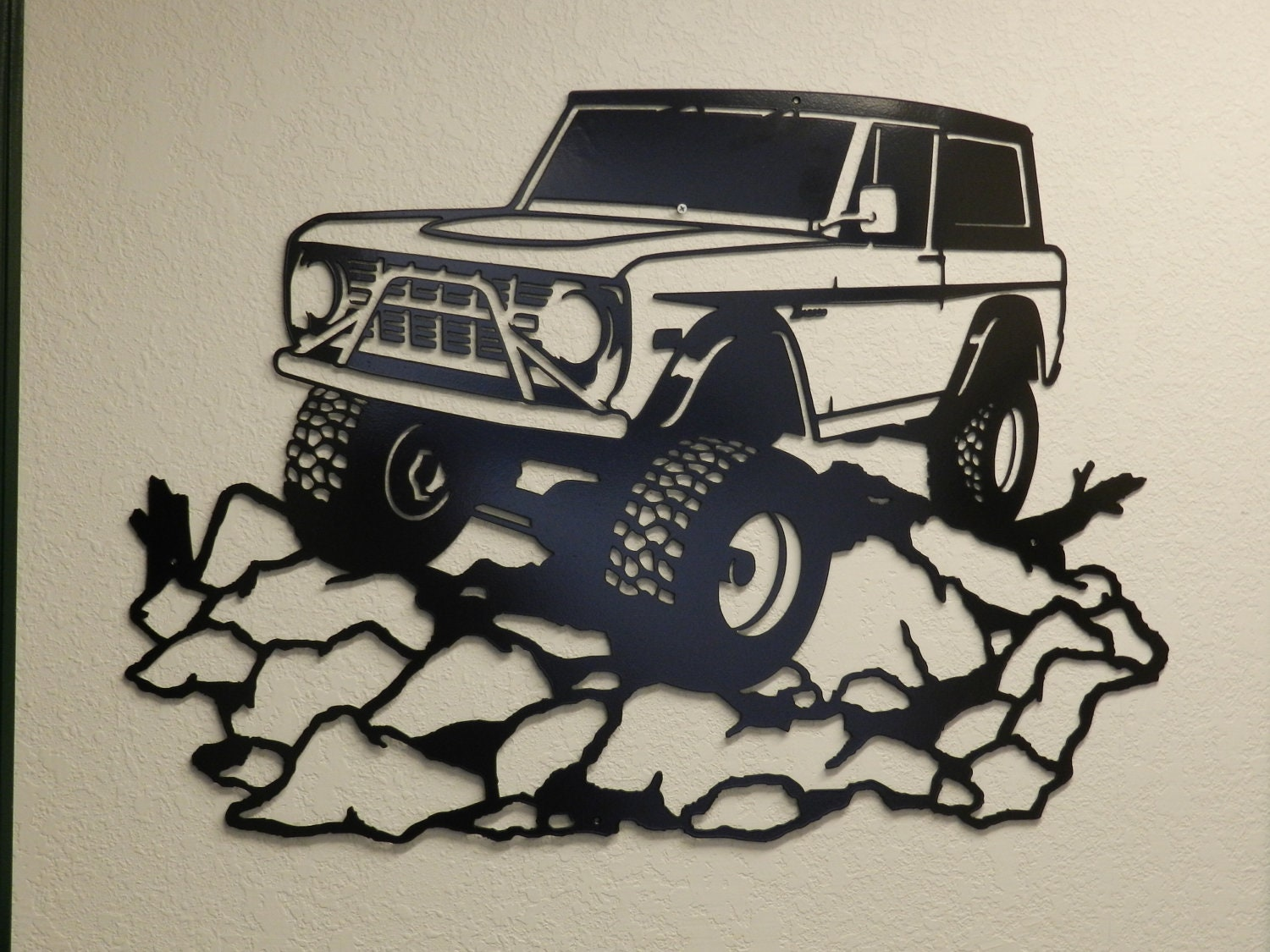 Early Ford Bronco Metal Wall Art