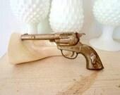 Antique Gun Toy 1950s Americana Metal Cap Gun Cowboy Western