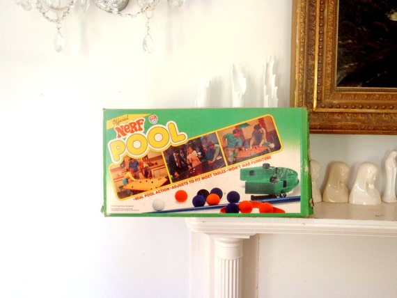 Vintage Nerf Pool Table Top Game