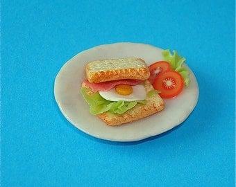 1:12 scale Dollhouse Sandwich Plate
