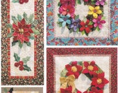 Wreath Art Quilt Pattern by Two Kwik Quilters