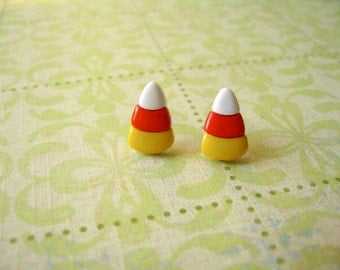Candy Corn Earrings, Candy Corn Post Earrings, Fall Candy Earrings