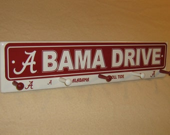 "Alabama "" Crimson Tide "" coat rack "" hangup """
