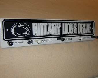 "Penn State ""Nittany lions "" coat rack ""hangup"""