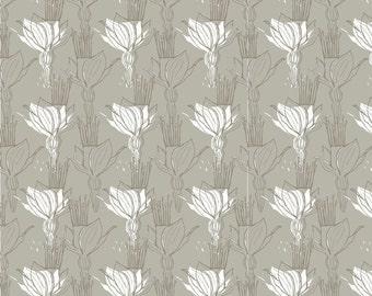 CLEARANCE!  Blomma, Blend Fabrics, Gray, 1/2 Yard
