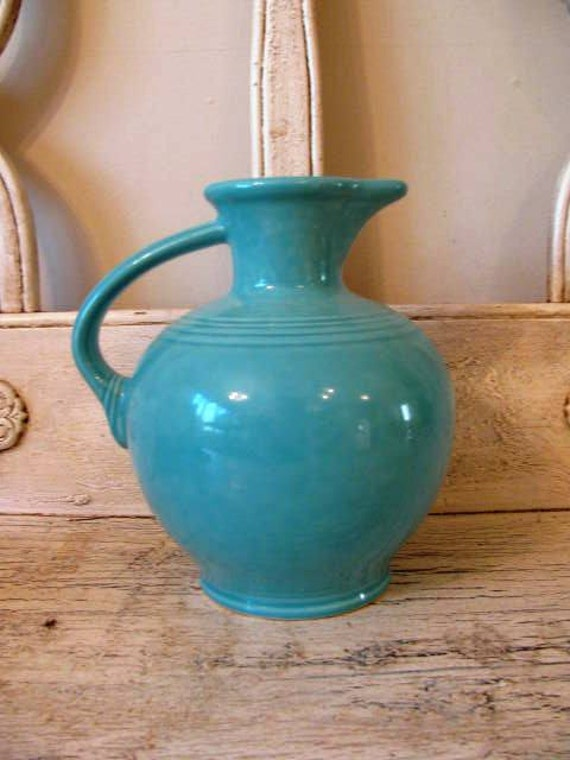 Vintage Fiesta Homer Laughlin Pitcher  - Turquoise