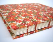 Autumn Wedding Guest Book / Sketch Book, Hand Bound Book, Coptic Stitch, Ribbon, Leaves, Fall