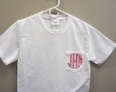 Monogrammed Pocket Short Sleeve TShirt