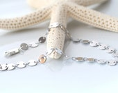 Silver Coin Chain Bracelet, Silver Disc, Coin Chain link bracelet, simple and classic by SimplySleek