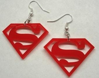 Superman Logo Inspired Earrings